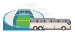 Sports team bus rental